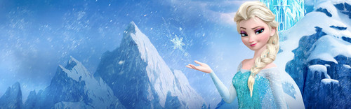 Frozen wallpaper titled Queen Elsa Banner