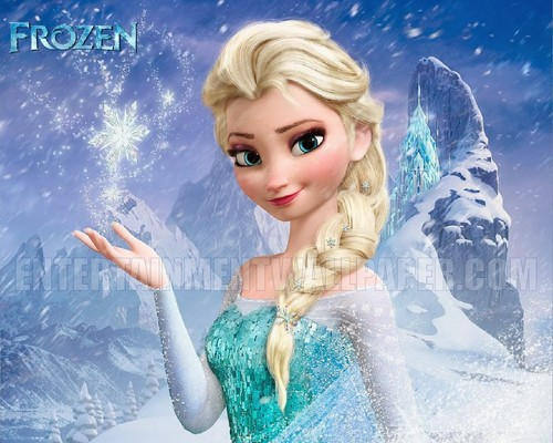 Frozen پیپر وال probably with a portrait called Queen Elsa پیپر وال