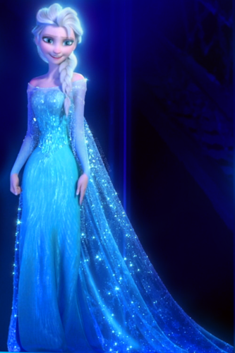Frozen wallpaper probably with a dinner dress and a gown titled Queen Elsa