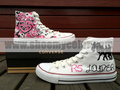 R5 white converse high top hand painted shoes