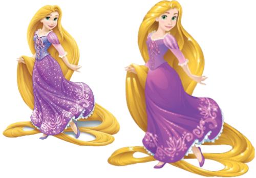 디즈니 프린세스 바탕화면 probably containing a 공식 만찬, 저녁 식사 dress titled Rapunzel (Current and New Design's)