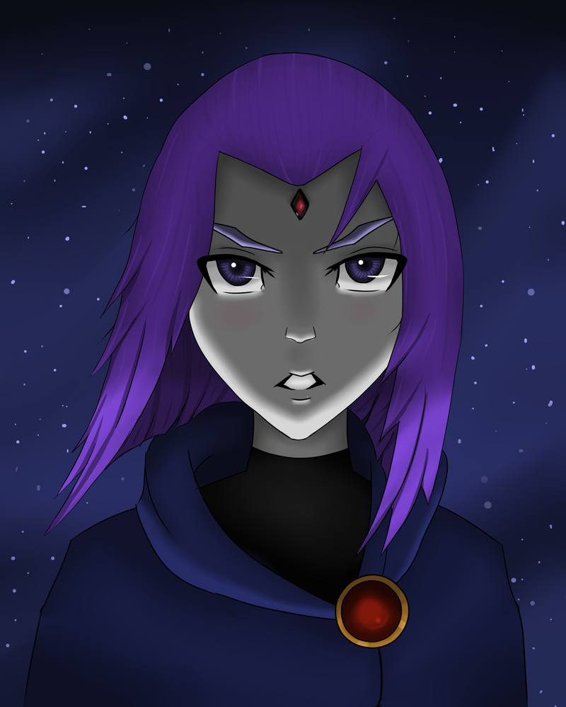 teen titans raven fan art Tumblr