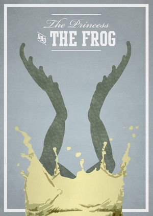 Retro Poster - Princess and the Frog