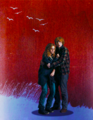 Ron and Hermione - romione fan art