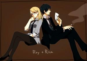 Roy mustang and Riza Hawkeye