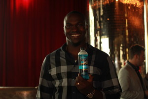 Seattle Seahawks defensive end Cliff Avril enjoys HYDRIVE Energy Water before the ESPY Awards.