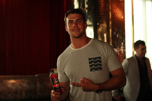 Seattle Seahawks tight end Cooper Helfet enjoys HYDRIVE Energy Water before the ESPY Awards.