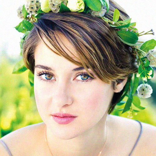 Shailene Woodley wallpaper with a bouquet, a camellia, and a rose titled Shailene Woodley