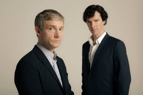 Sherlock in der BBC Hintergrund with a business suit, a suit, and a single breasted suit entitled Sherlock Holmes and John Watson