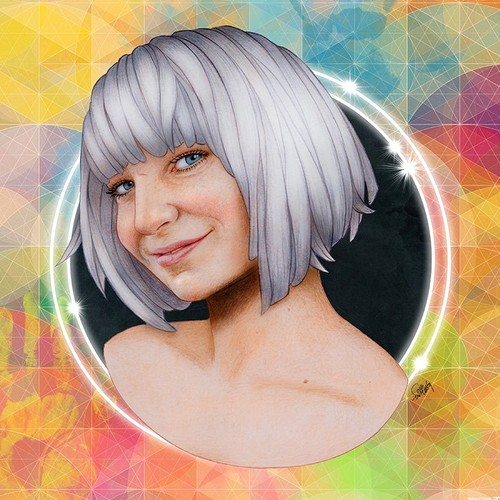 Sia fondo de pantalla probably containing a portrait called Sia por Will Costa