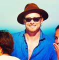 Simon Baker and family
