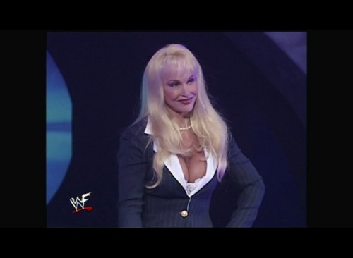 Former WWE Diva... Debra پیپر وال probably containing a well dressed person and a portrait entitled Smackdown! 10.13.99