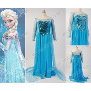 Snow Queen Elsa Fancy Dress Costume for Frozen Cosplay