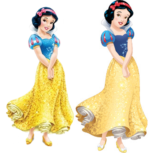 Disney Princess karatasi la kupamba ukuta probably with a gown, a bridesmaid, and a chajio, chakula cha jioni dress titled Snow White (Current and New Design's)
