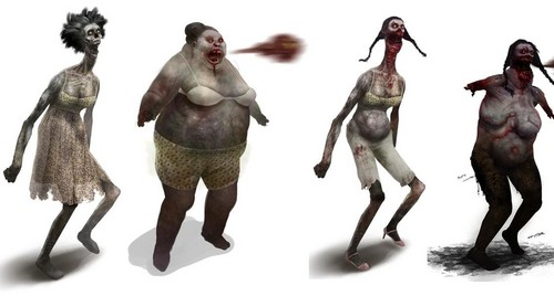 Left 4 Dead 2 fond d'écran entitled Spitter Concept Art