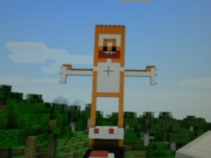 Stampy is petting cake