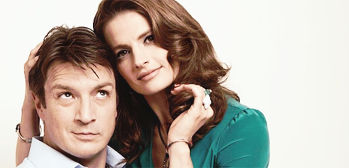 Nathan Fillion & Stana Katic wallpaper containing a portrait called Stanathan Photoshoot