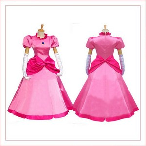 Super Mario Princess perzik cosplay costume