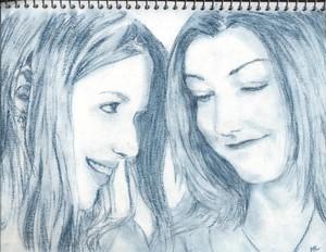 Tara and Willow Drawing