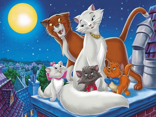 The Aristocats karatasi la kupamba ukuta titled The Aristocats