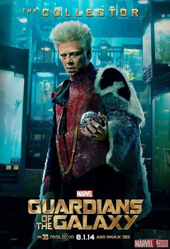 Guardians of the Galaxy 바탕화면 probably with a sign and 아니메 called The Collector Poster