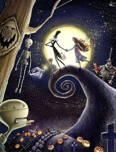 Nightmare Before Christmas wallpaper probably containing an embryonic cell called The Nightmare Before Christmas