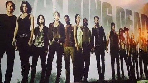 The Walking Dead kertas dinding with a mata air, air pancut called TWD Season 5 Poster