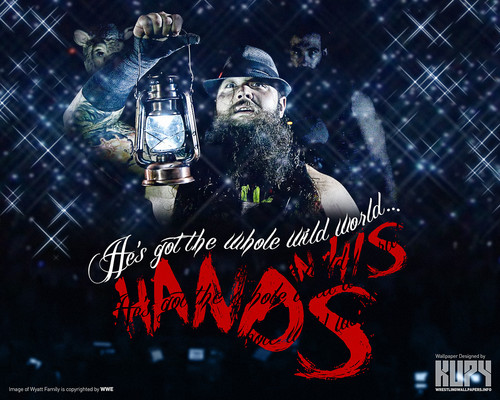 WWE wallpaper with anime called The Wyatt Family - He's got the whole World in his hands..