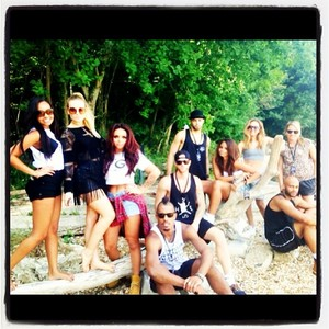 The girls at the spiaggia with their Friends today