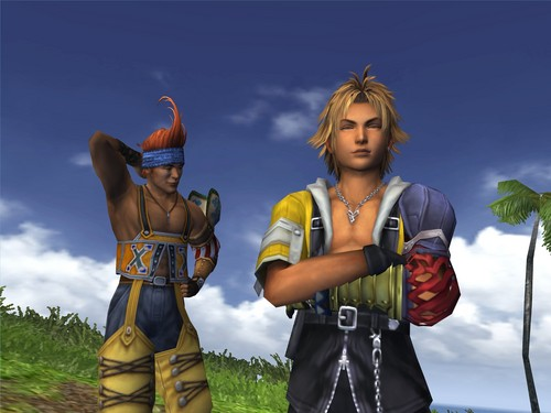 Final Fantasy X wallpaper entitled Tidus and Wakka
