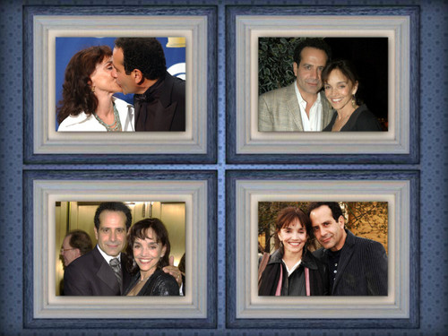 Tony Shalhoub দেওয়ালপত্র entitled Tony Shalhoub and Brooke Adams