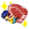 Young Toriko eating  - anime fan art