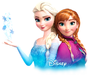 Transparent Anna and Elsa