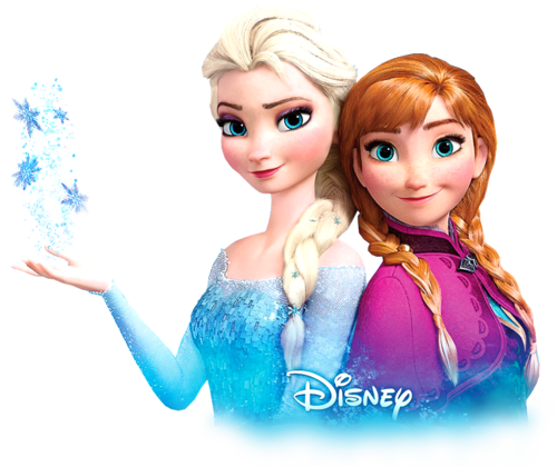 Frozen karatasi la kupamba ukuta entitled Transparent Anna and Elsa
