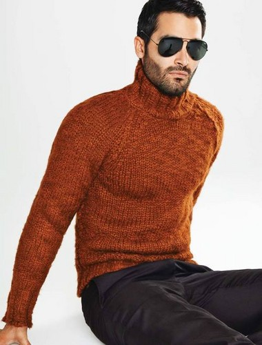 Tyler Hoechlin wallpaper probably with a pullover called Tyler Hoechlin for August Man Malaysia 2014