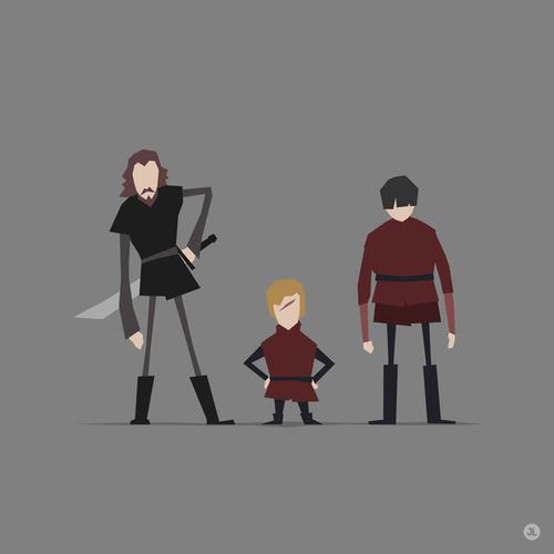 Tyrion Lannister, Bronn and Podrick Payne