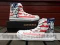 US Flag Stars and Stripes White Converse Shoes Hand Painted High Top Sneaker