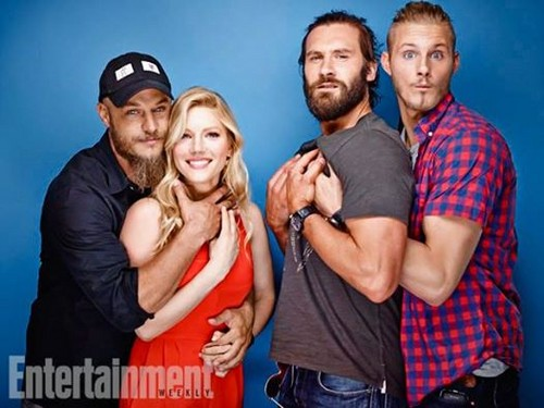Vikings (TV Series) karatasi la kupamba ukuta called Vikings Cast// EW