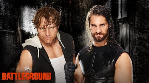 The Shield (WWE) wallpaper containing a portrait entitled WWE Battleground - Dean Ambrose vs Seth Rollins