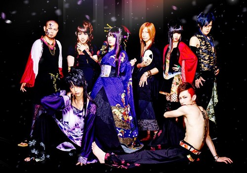 Wagakki Band achtergrond probably with a concert entitled Wagakki Band