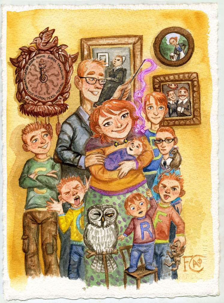 The Weasley Family images Weasley fanart wallpaper photos ...