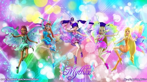 The Winx Club پیپر وال probably with a foxglove, a japanese apricot, and a bouquet titled Winx club Mythix