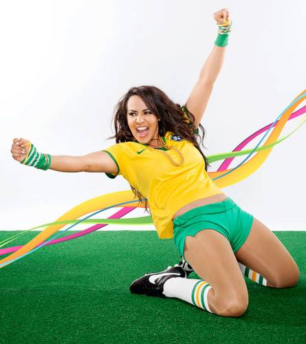 Diva WWE kertas dinding entitled World Cup Divas - Layla