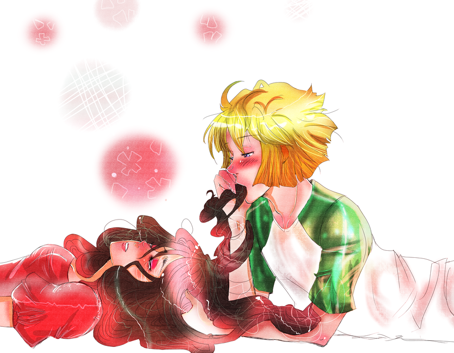 Kuranosuke and tsukimi kiss