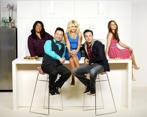 Young & Hungry fond d'écran containing a drawing room, a well dressed person, and a living room entitled Young & Hungry Cast