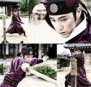 Yunho in Bangtan Boys cuts for 'The Night Watchman'