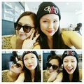 Yuri with former After School member Bekah