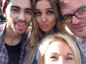 Zayn and Perrie at their birthday party