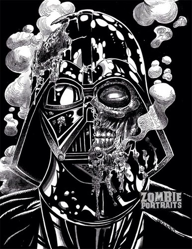 Zombies wallpaper called Zombified Darth Vader