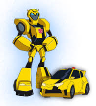 Transformers karatasi la kupamba ukuta titled bumblebee in animated form